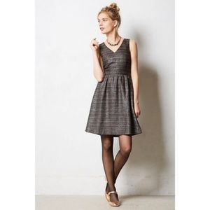 Anthro Moulinette Soeurs Metallic Glissade Dress 0